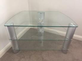 Clear Glass TV unit