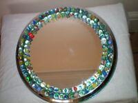 Round Chrome MARBLE Mirror