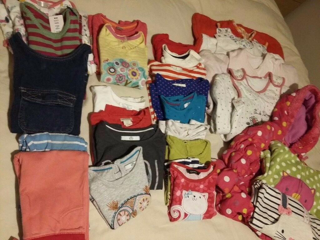 Girls clothes bundle 1-2 years plus four sleeping bags
