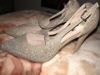 Light gold heels
