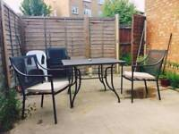 4 seater garden set + Weber BBQ - really good condition