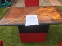 Brown Gloss wooden table