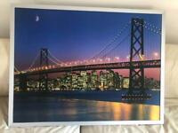 "Ikea very large metal framed wall art 46"" x 36"""