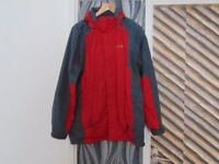 Regatta isotex 5000 all weather jacket 3 in 1 Size S charcoal and Red