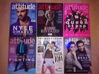 11 Attitude Magazines for sale (Gay Lifestyle)