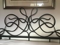 Black metal Next double bed frame