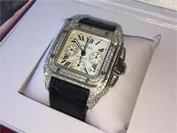 Brand new Swiss Cartier Santos 100 XL watch not rolex Audemars Piguet hublot richard mille