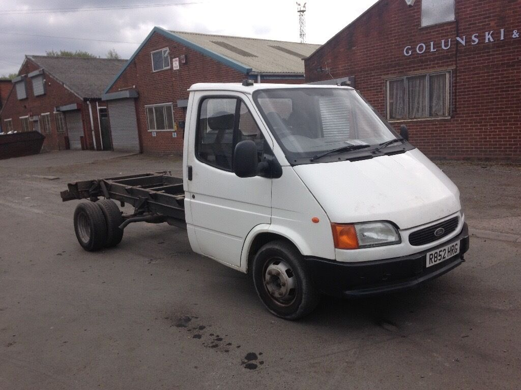 Ford transit chassis cab smiley 2 5 litre banana engine