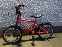 Kids bike 14 inch used once