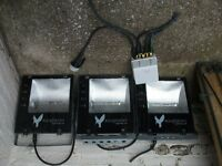 Three Security floodlights by Kingfisher -400W- IP65 rated so ideal for outside