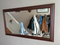 Large Oak Framed Wall Mirror