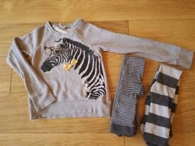 5-6 years Next top and tights set