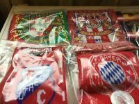 Football scarves(various teams)9 item bundle