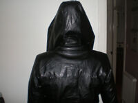 New eco leather jacket with a hood