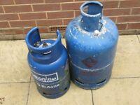£ 15 -EACH - EMPTY Calor Gas 15kg OR 7kg Butane gas bottle/cylinder+REGULATOR ; BBQ,camping,caravan
