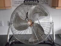"18"" 3 speed high velocity power fan - retro look."