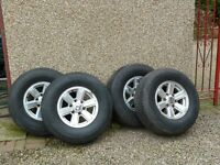 Ford Ranger alloys and tyres. £225.00