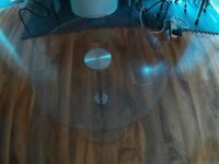 Round Glass Side Table.
