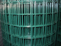 Green PVC Covered Wire Mesh 25 & 50mm hole size in various heights
