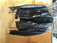 ALLSAINTS Black Leather Jacket - Size 8