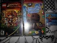 PSP Playstation Portable with 3 games and case