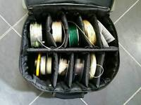 Greys GTX No. 4 Salmon Fly reel, spools and assorted lines