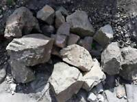 Rockery stones (large medium and small stones)