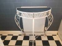 Vintage Retro Half Moon Hall stand Plant Stand 3 Tier Console Dresser Telephone Table