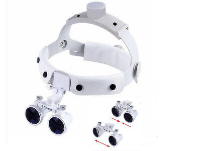 Dental 3.5x420mm Surgical Medical Binocular Flexible Headband Loupe Dy-108 White
