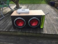 2x12 inch subwoofer and amp