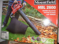MOUNTFIELD ELECTRIC BLOWER VACUUMS 2600 WATTS POWERFUL SUCTION AND BLOWER