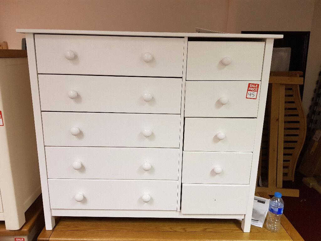 scandinavia 5+5 drawer chest white