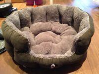 Brand new grey coloured medium size padded dog bed