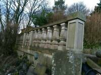 Balustrade moulds, cast your own in concrete like those pictured.