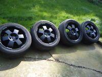 "5 stud 18"" black alloy wheels & tyres 245/45zr18 taken off my Vito, make CMS"