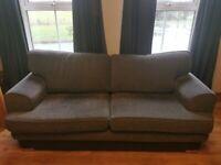 Sofa Grey 3 piece suite