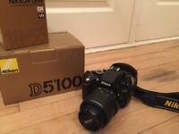 Nikon D5100 with Full kit VR 18-55mm