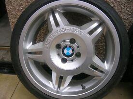 "BMW E30 MOTORSPORT 17"" ALLOYS,,"