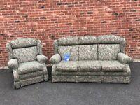 3 seater sofa & 1 reclining armchair