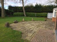 Used sandstone Paving (approx. 60 sq/m) inc Decorative Circle design