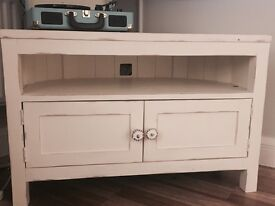 TV unit painted in Laura Ashley Creme