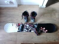 Snow board and boots size11 men's.
