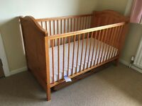 Mamas & Papa's Cot, Brand New Matress, Changing facility & Mobile