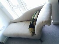 Early 1900 French Chaise Lounge, Settee, Chair, for sale £600 Ono (newly re-upholstered