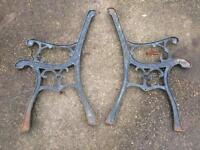 Cast Iron Patio Bench Ends Or Chair Ends