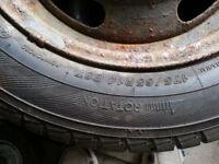 2 x Winter Tyres Part Worn 175/65 R14 175 65 14