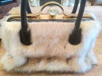 Faux Fur Diamante Shoulder Handbag NEW perfect for Christmas!