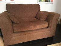 Large comfy brown armchair