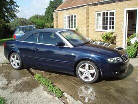 CONVERTIBLE AUDI A4 DIESEL AUTOMATIC S LINE . FSH. S2 MGX reg included