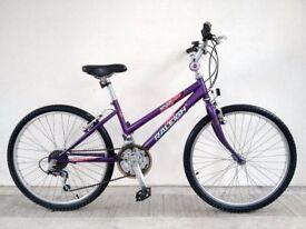 "(3118) 24"" RALEIGH KRUSH GIRLS MOUNTAIN FULL RIGID HYBRID BIKE BICYCLE Age: 8-10, Height: 130-145 cm"